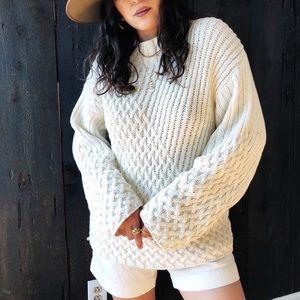 Mock next vintage cream sweater